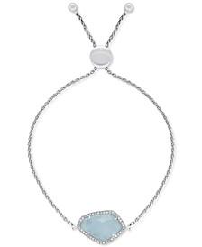 Milky Aquamarine (5-3/8 ct. t.w.) & Diamond (1/6 ct. t.w.) in Sterling Silver