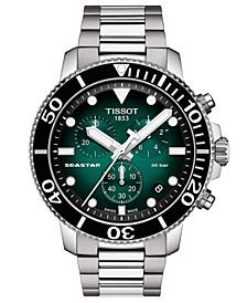 Men's Swiss Chronograph Seastar 1000 Stainless Steel Bracelet Watch 46mm