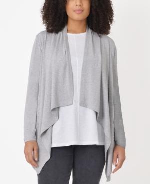 Plus Size Marl Longline Cardigan