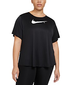 Plus Size Reflective Swoosh Run Top