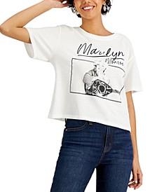 Juniors' Marilyn Monroe-Graphic T-Shirt