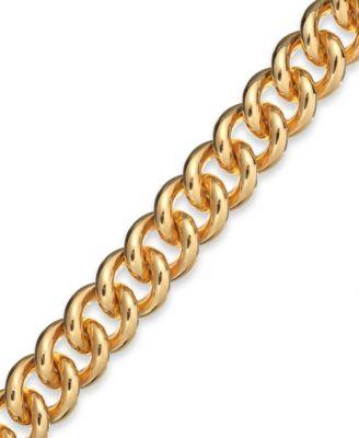 Signature Gold Curb Link Bracelet in 14k Gold over Resin