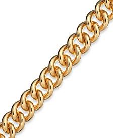 Curb Link Bracelet in 14k Gold over Resin
