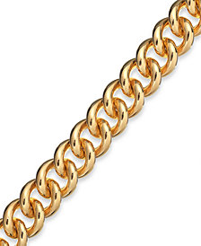 Signature Gold™ Curb Link Bracelet in 14k Gold over Resin