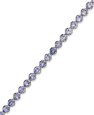 Sterling Silver Tanzanite Tennis Bracelet 10 Ct T W