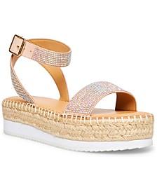Blossom Rhinestone Flatform Sandals
