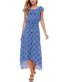 Juniors' On and Off-The-Shoulder Maxi Dress
