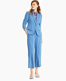 Blazer, Printed Sleeveless Top, Soft Pants &Corteta Thong Ball-Heel Sandals, Created for Macy's