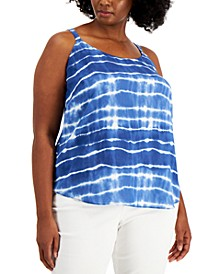 Plus Size Tie-Dye Camisole, Created for Macy's