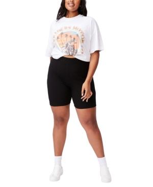 Trendy Plus Size Beverly Rib Bike Shorts