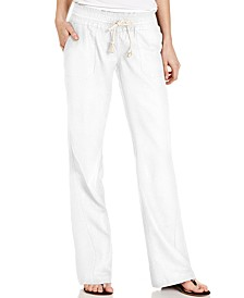 Juniors' Oceanside Wide-Leg Drawstring Pants