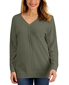 V-Neck Cable-Knit Sweater, Created for Macy's