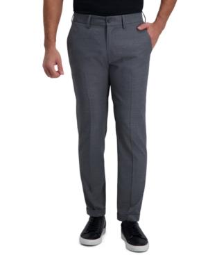 Men's Slim-Fit Grid Pattern Dress Pants