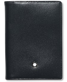 Men's Black Leather Meisterstück Business Card Holder 7167