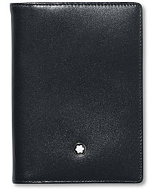 Montblanc Men's Black Leather Meisterstück Business Card Holder 7167