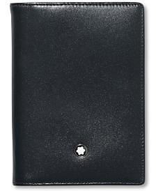 Montblanc Men's Black Leather Meisterstück Business Card Holder 7167