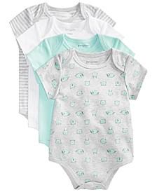 Baby Boys & Girls Animal Cotton Bodysuits Set, Created for Macy's