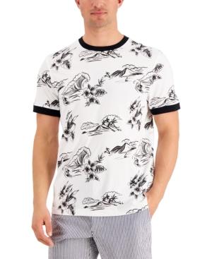 Men's Tropical Graphic Ringer T-Shirt