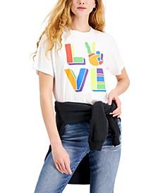 Juniors' Cotton Love Graphic-Print T-Shirt