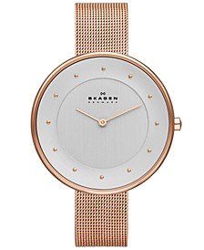 Women's Gitte Rose Gold-Tone Stainless Steel Mesh Bracelet Watch 38mm SKW2142