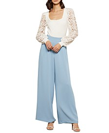 Lace-Sleeve Bodysuit