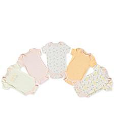 Baby Girls 5-Pc. Cotton Bodysuits Set