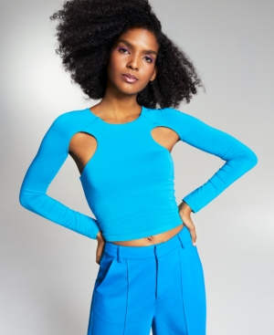 Zerina Akers Cut-Out Knit Top