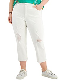 Petite High-Rise Straight-Leg Cropped Jeans, Created for Macy's