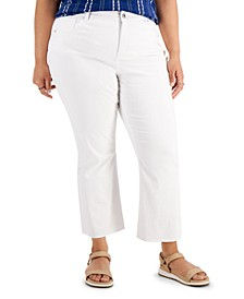 Plus Size Kick Crop Jeans, Created for Macy's