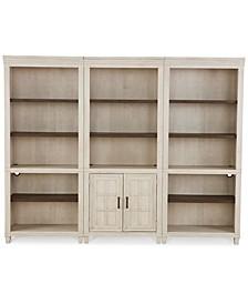 Dawnwood Home Office 3- Pc. Set (Open Bookcase, Open Bookcase, Door Bookcase)