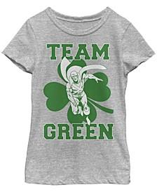 Big Girls Justice League Martian Team Short Sleeve T-shirt