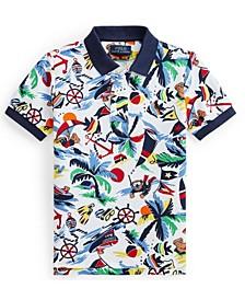 Little Boys Polo Bear Mesh Shirt