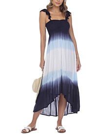 Ombre High-Low Cover-Up Dress
