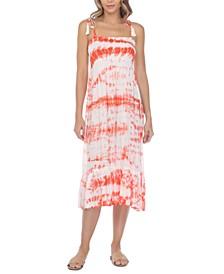 Tie-Dye Cover-Up Midi Dress