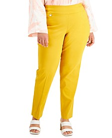 Plus Size Tummy-Control Pull-On Skinny Pants, Created for Macy's