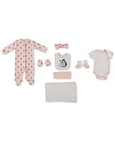 Baby Girls 9-Pc. Penguin Snowflake Take Me Home Set