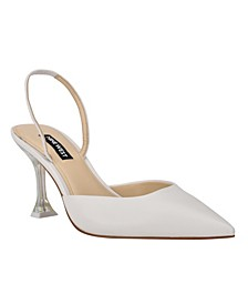 Women's Happy Pointed Toe Sling Back Pumps