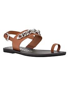 Women's Roxie Toe Ring Chain Flat Sandals