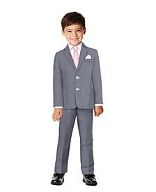 Little Boys Bold Dobby Suit, 4-piece Set