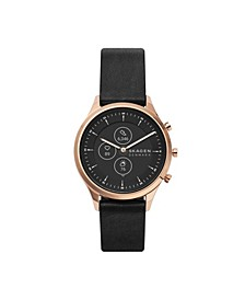 Women's Hybrid HR Jorn Black Leather Strap Smart Watch 38mm
