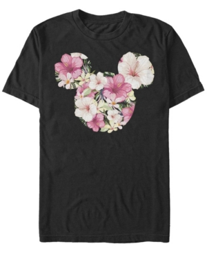 Fifth Sun Men's Tropical Mouse Short Sleeve Crew T-shirt In Black