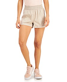 Juniors' Smocked Cuffed-Hem Shorts