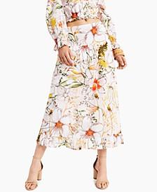 INC Ruffled Midi Skirt, Created for Macy's
