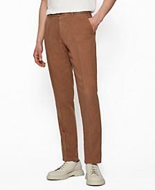 BOSS Men's Regular-Fit Linen Chinos