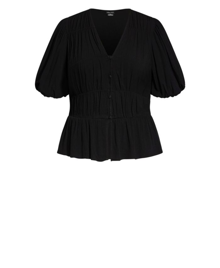 City Chic Plus Size Sweet Sleeve Top & Reviews - Tops - Plus Sizes - Macy's