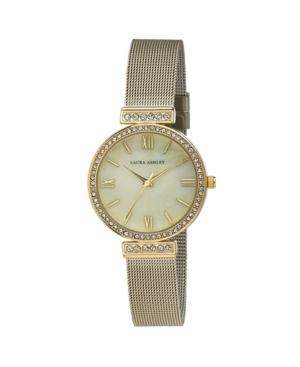 Women's Crystal T-Bar Gold-Tone Alloy Bracelet Watch 32mm