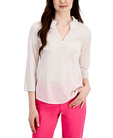 Split-Neck Printed Top, Created for Macy's