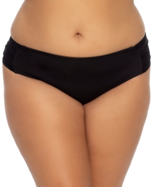 Plus Size Solid Color Code Hipster Bottoms Women's Swimsuit