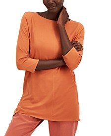 3/4-Sleeve Boat-Neck Tunic, Created for Macy's