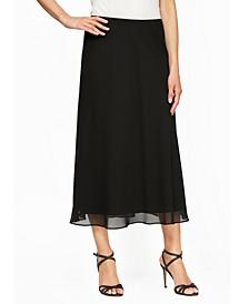 Petite Chiffon A-Line Skirt